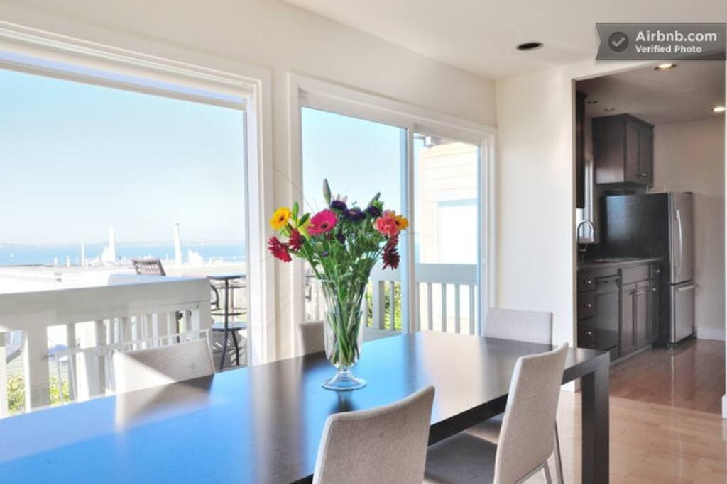 One of 2 private decks- this one off of the dining room/kitchen