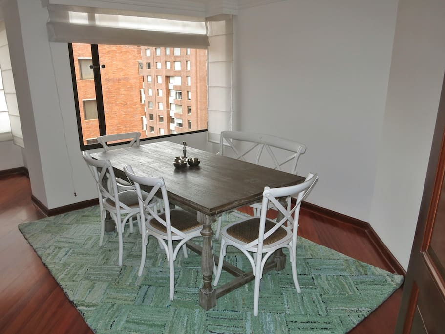Dining room with comfortable seating for 6