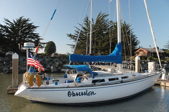 Cozy, Private, 38' Waterfront Sailboat Adventure.
