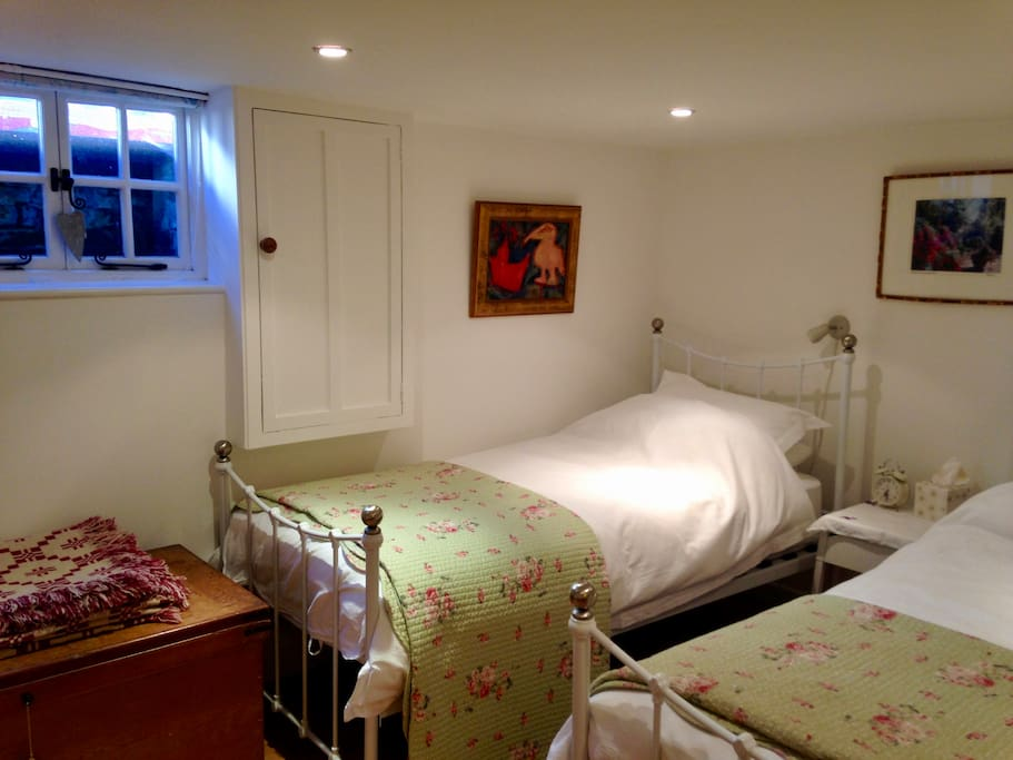 Twin-bedded private bedroom