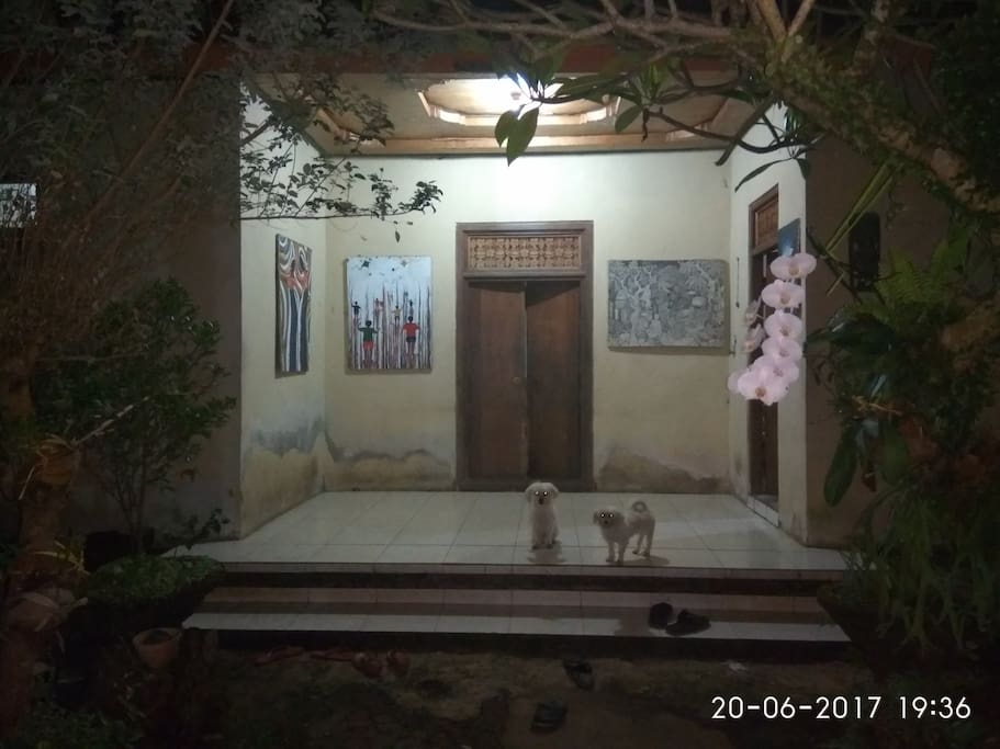 My view of our simple house, we are 3 people such as me as the soon, my father and mother. We have only small house as a real balinese familly, and we want to share our daily activity with you..