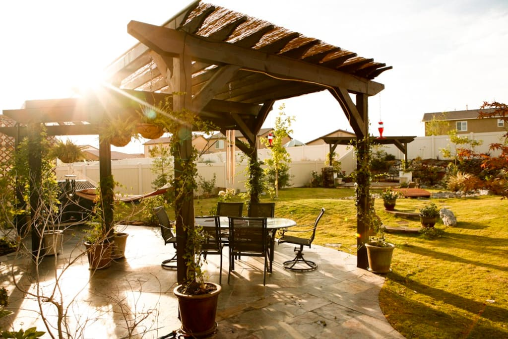 We are always enjoying our backyard Italian villa!
