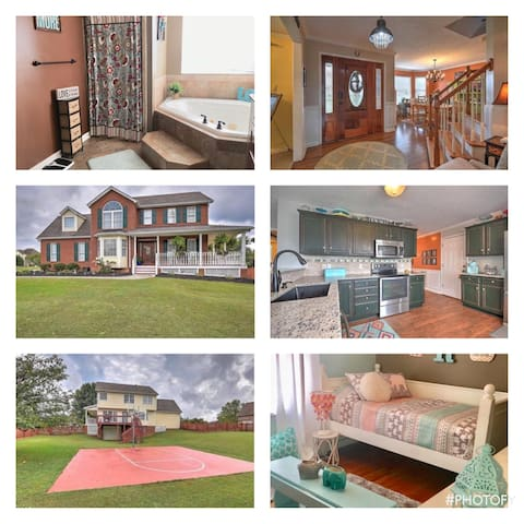 2 miles to BMS Upscale Clean Home 4 BR Sleeps 8+