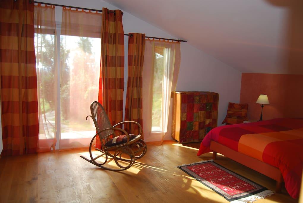Chambre Cosy : vue coté balcon