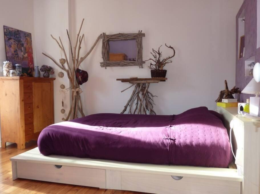 La chambre très confortable, matelas de qualité