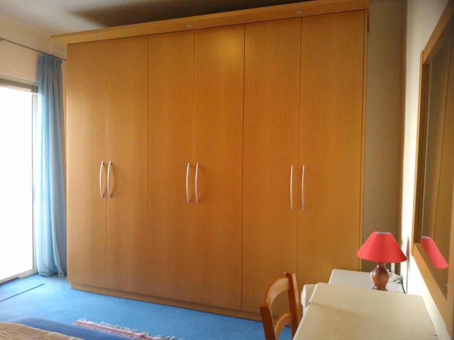 very large wardrobe for ample storage space