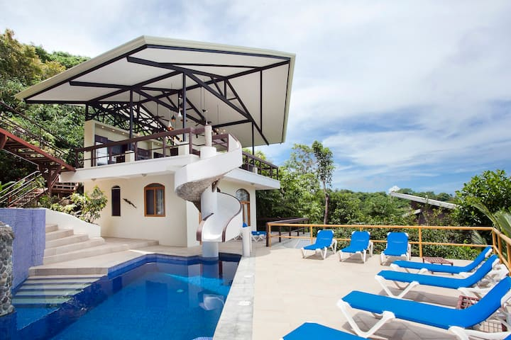 Luxury Ocean View Villa Pool w/Slide Roof-Top BBQ