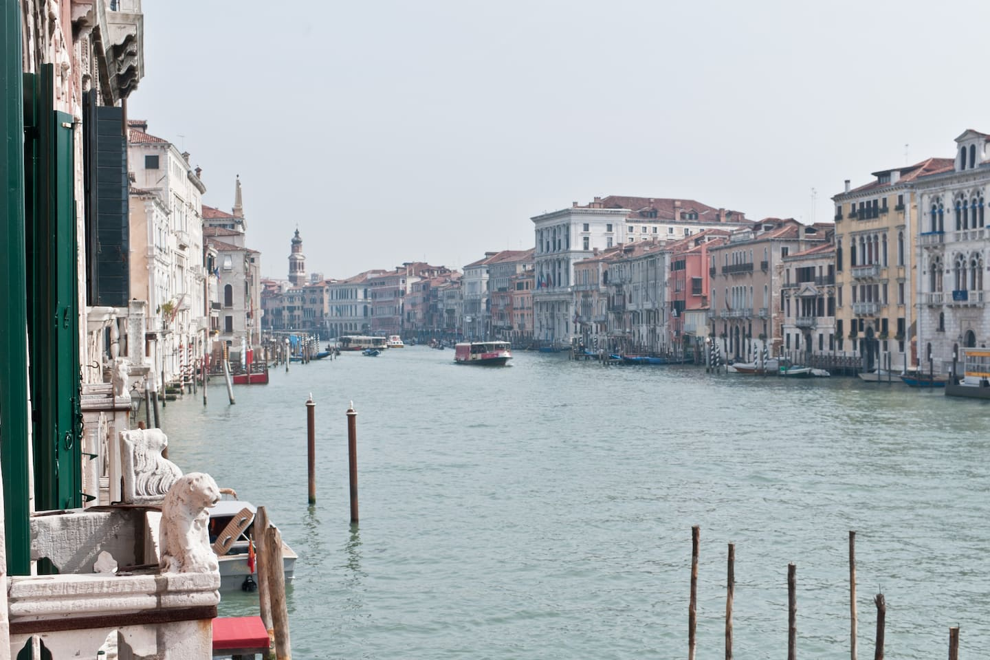 Balcony view of the Grand Canal.