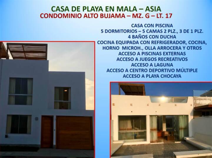 Alquiler de Casa de Playa en Condominio de Bujama