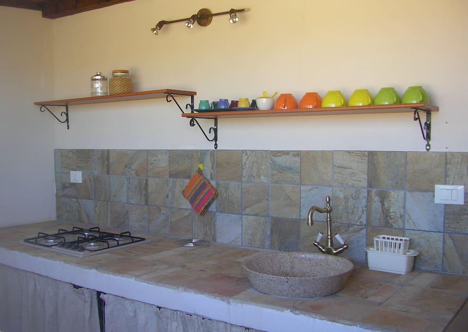 Cucina dotata di tutti i confort