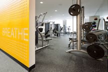 Exercise weight room on site