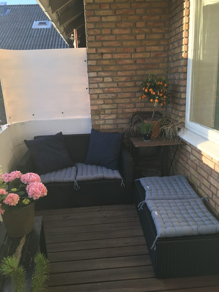 Big sunny and Cosy flat With balcony .