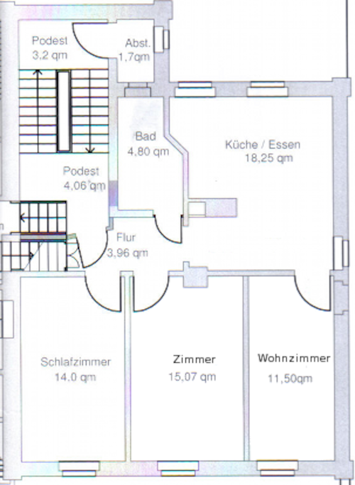 Der Grundriss der Wohnung Rheinfels