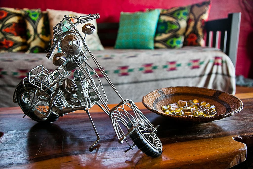 ethnic crafts made by locals with spare parts ##