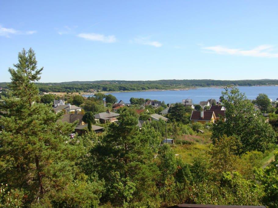 La vue exceptionnelle depuis notre terrasse en haut.