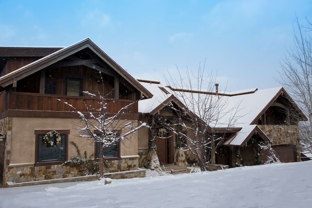 Front of the house after a snow