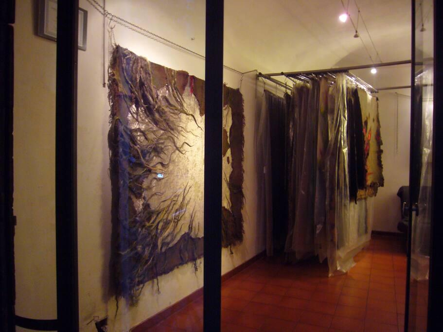 studio with showroom