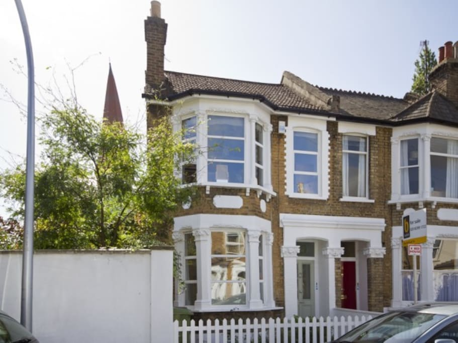 The house is in a quiet residential street, 5 minutes from the station.
