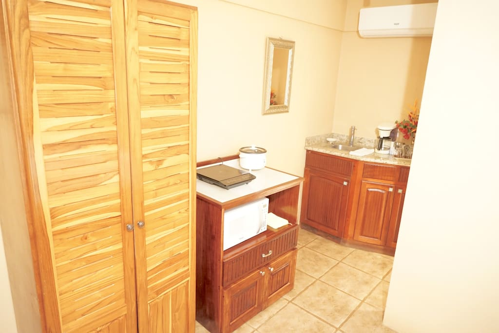 A well equipped Kitchenette is provided for your convenience