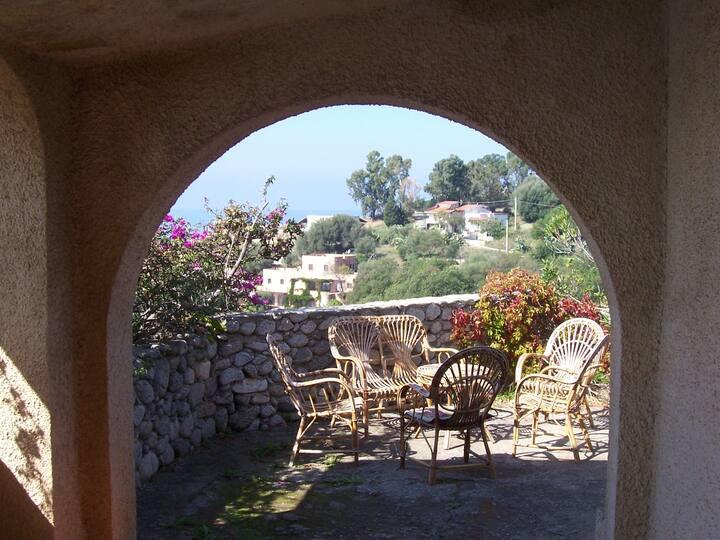 Villa Zappani mit Panoramablick auf Meer u. Inseln