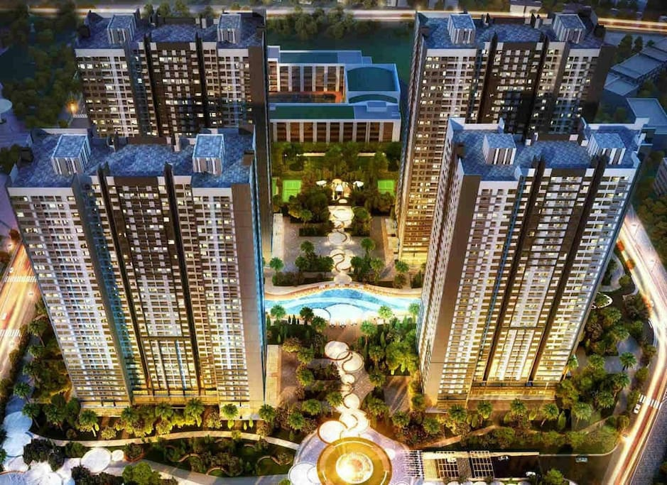 The apartment is in Times city - Park Hill Premium 10 building. The modest building in the area.