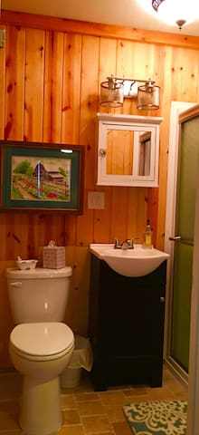 Brand new bathroom and all toiletries provided