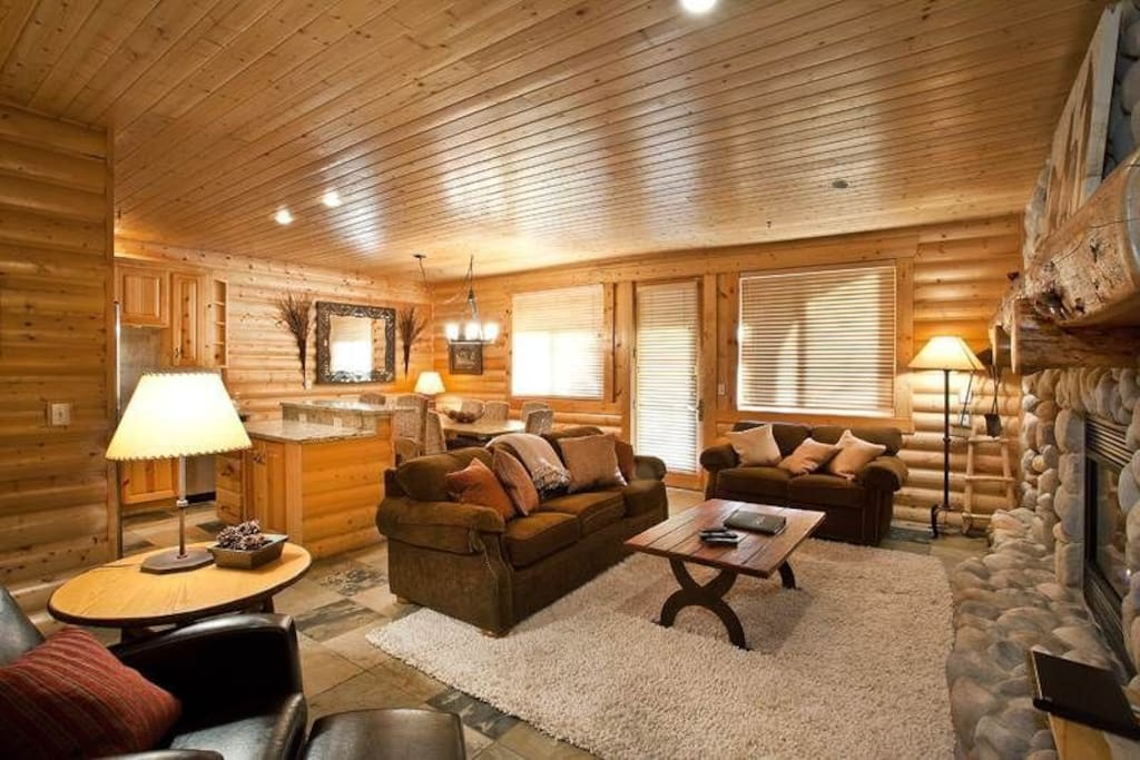 Comfortable & well-appointed living room, including sleeper-sofa