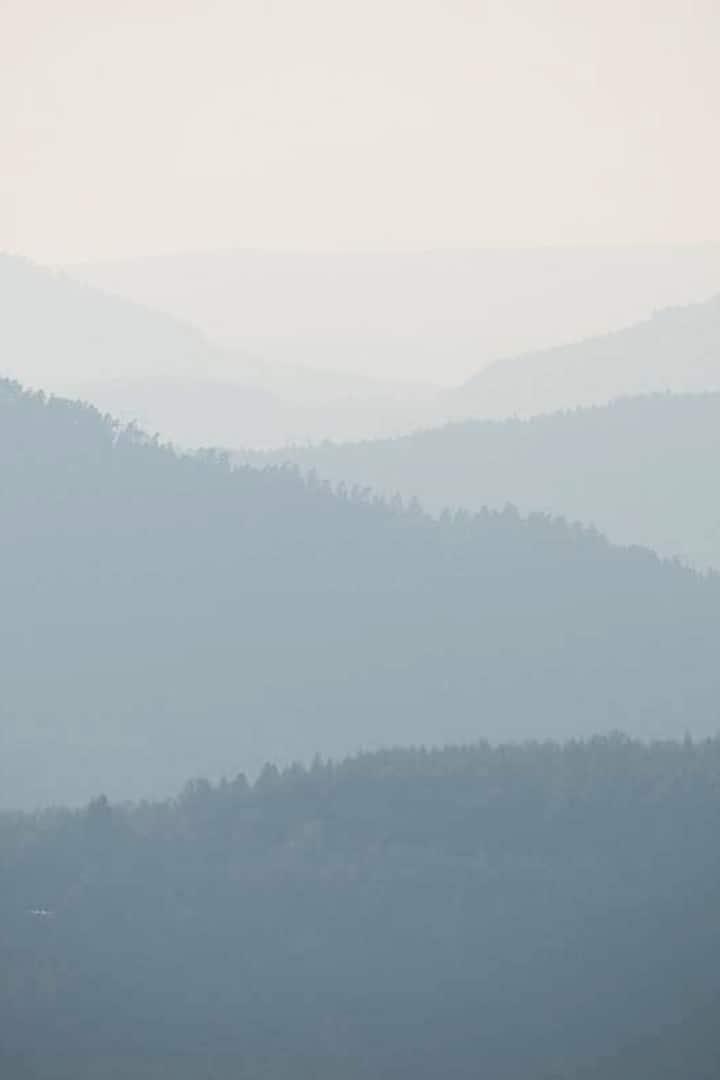 Brume sur la ligne bleue des Vosges