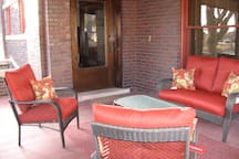 View one of front porch of East Unit.