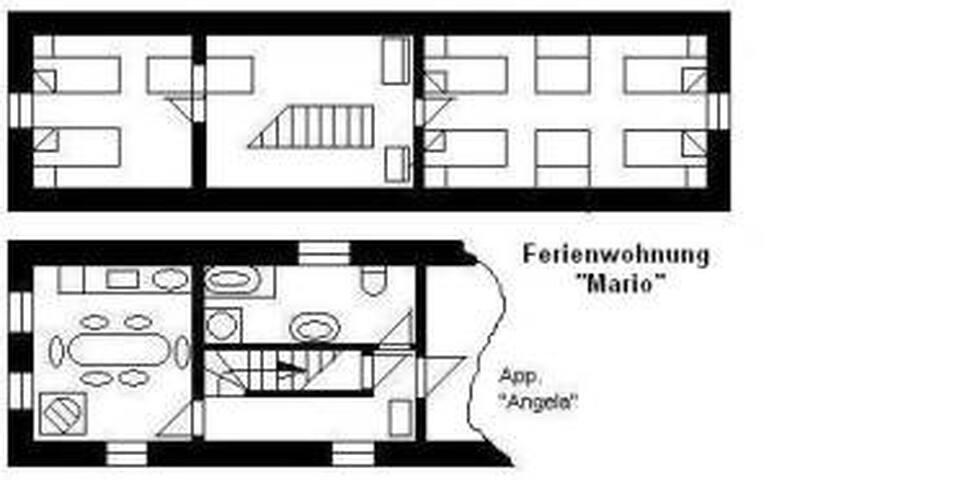 """3-Zimmer-App """"O3"""" für 4-6 Personen"""