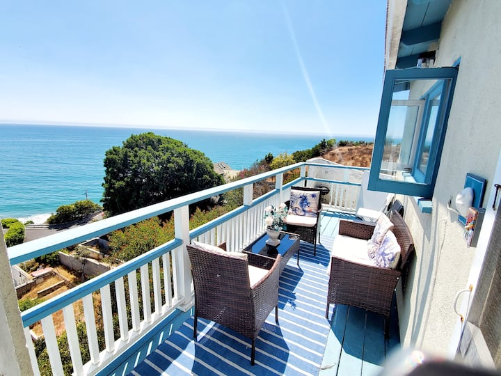✔ Sea, Sun+Ocean View house sleep 7/ 5min to beach