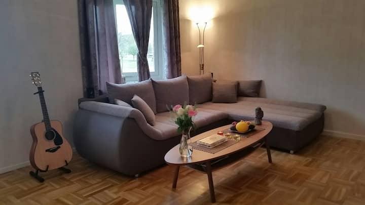 Central lägenhet, 4 sovplatser i 2 olika rum