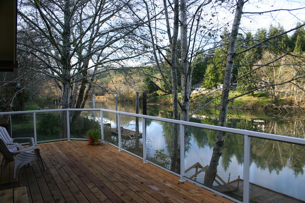 View of the Siletz from our deck.