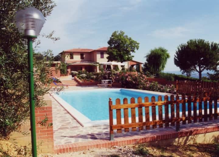 stunning panoramic villa with pool