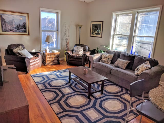 Light-filled apt steps away from Tower Grove Park.