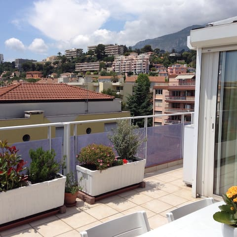 Studio Dernier ét+terrasse+véranda-50m mer - Roquebrune-Cap-Martin