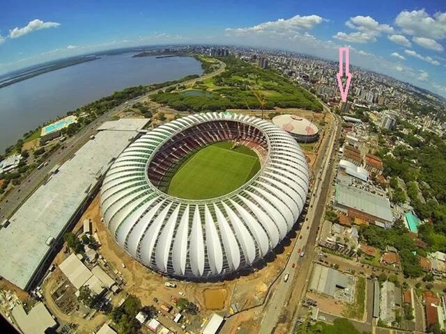 Para a Copa, 200 metros do estádio.