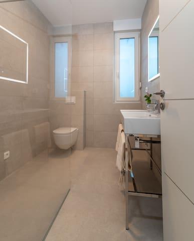 Luxury furnished bathroom on 1st floor.