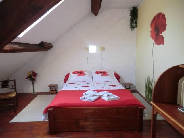 Chambre d'hôte dans ancienne ferme/privé douche+wc