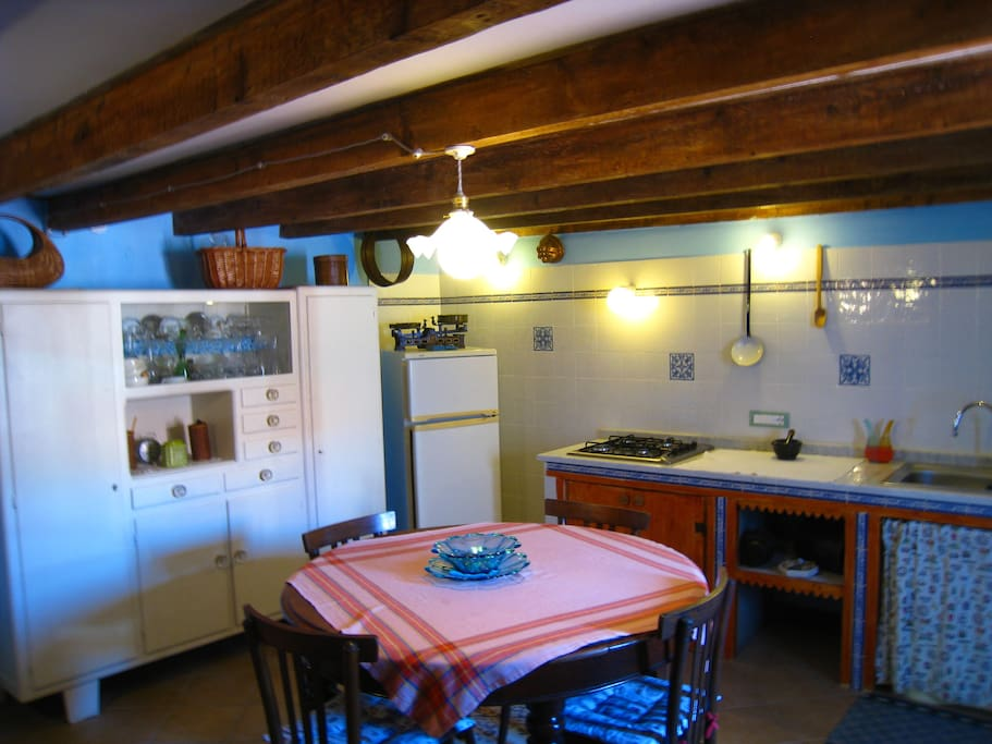 Our Typical Ligurian Kitchen. Full of colour!