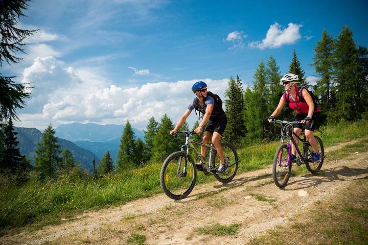 CYCLING IN THE NATURE IN THE FRESH AIR