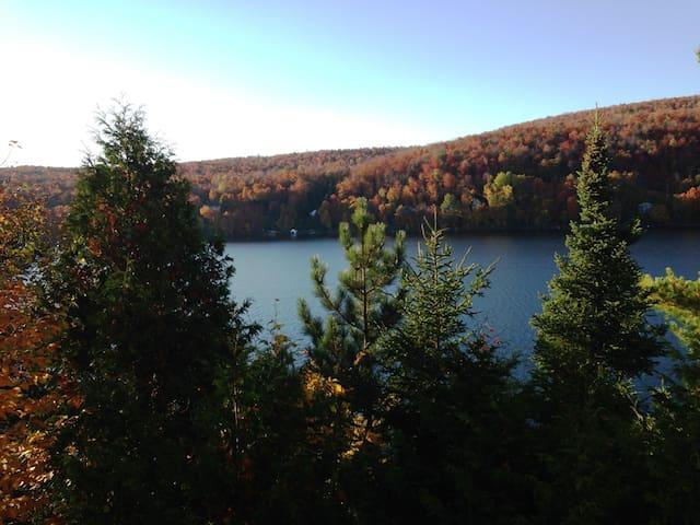 La plus belle vue sur le Lac Bowker - Orford - Ev