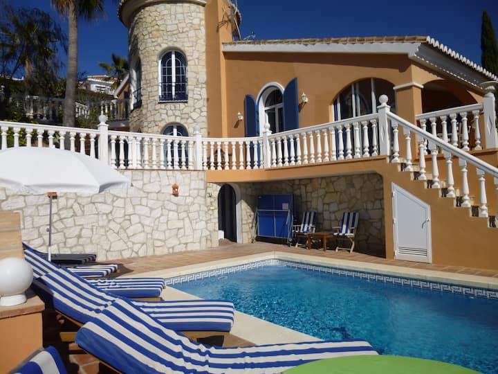 Superb Andalusian villa  Private pool & sea Views