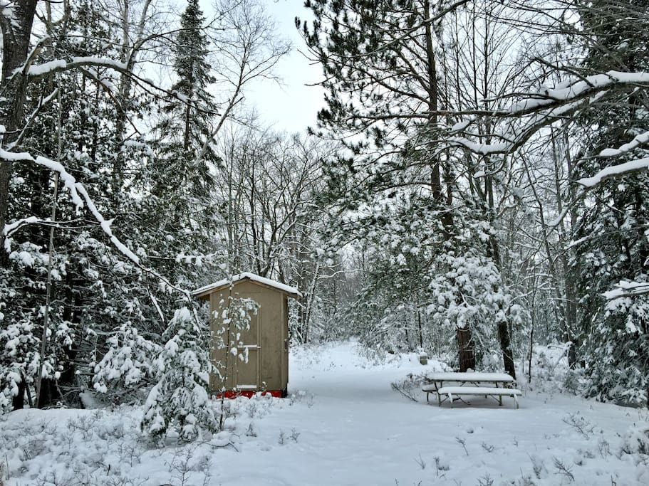 Deer Blind, Sitting Area, Snowmobile Trails
