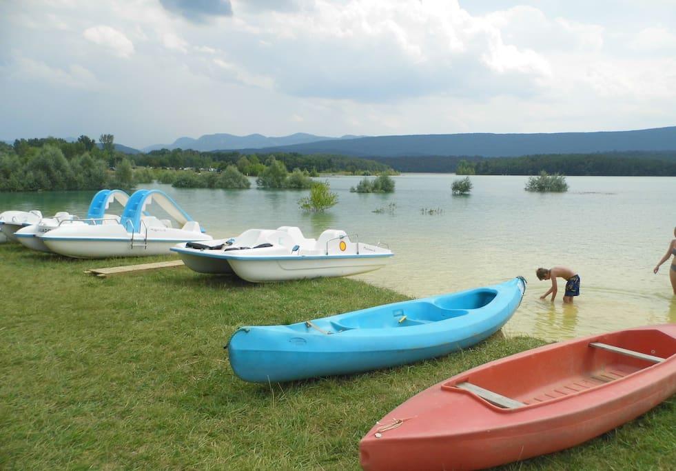Lac de Montbel (beach, kayak ...)