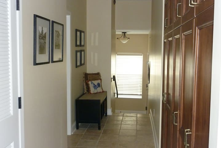 Private back entrance.  Elevator comes directly to the unit. Laundry available.