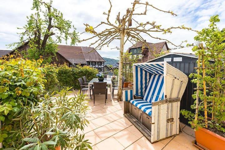 Ferienwohnungen Badischer Hof, (Gaienhofen), Ferienwohnung Familie, 180qm, 4 Schlafzimmer, max. 8 Personen