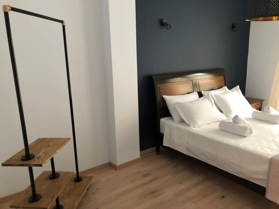 Blue double bedroom consists of 14.5 sq.m.