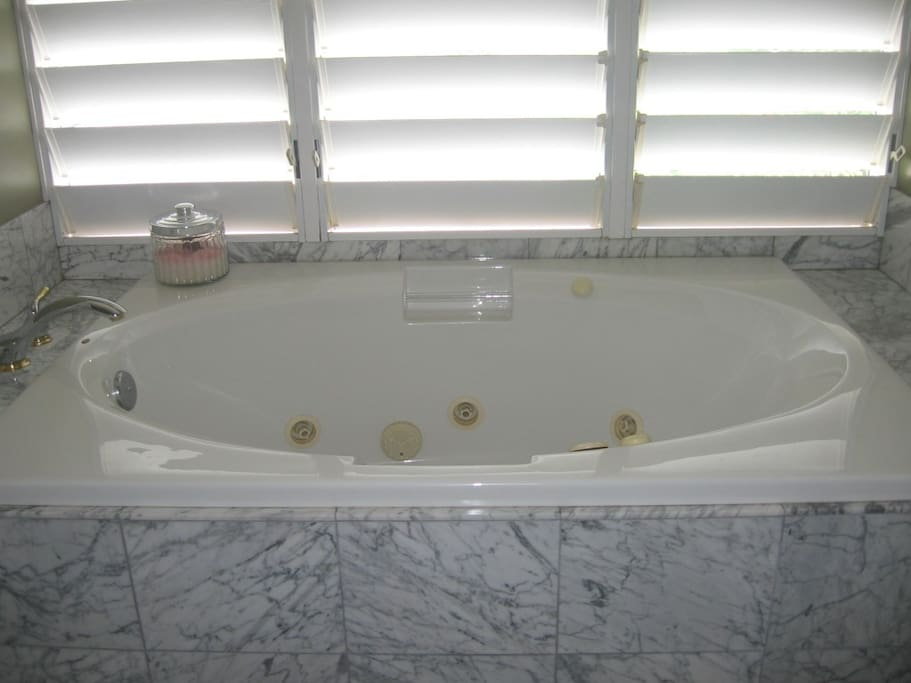 Jacuzzi tub in the master bath
