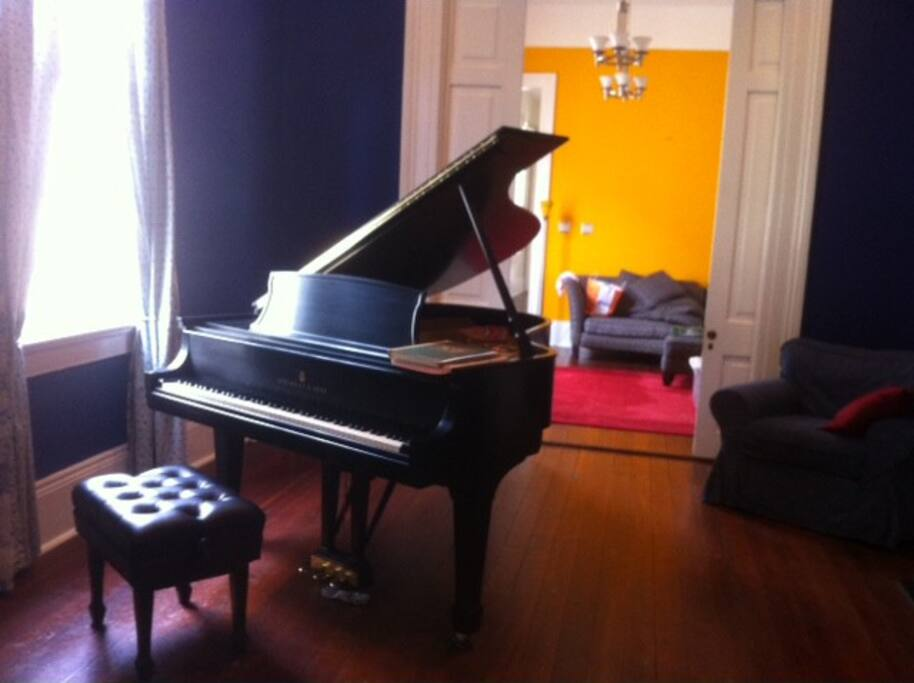 Steinway piano in second parlor